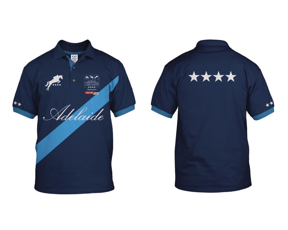 Win an australian international 3 day event polo shirt Design t shirt australia