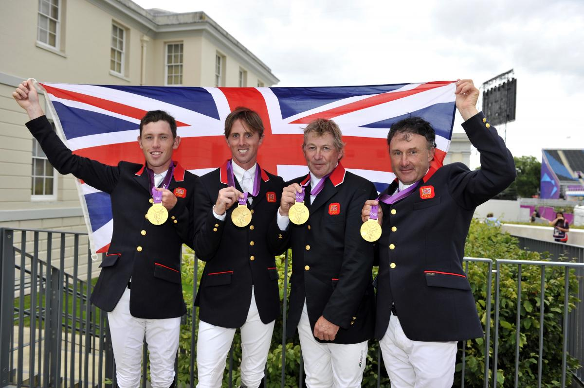 Olympic Gold medal winning British showjumping team
