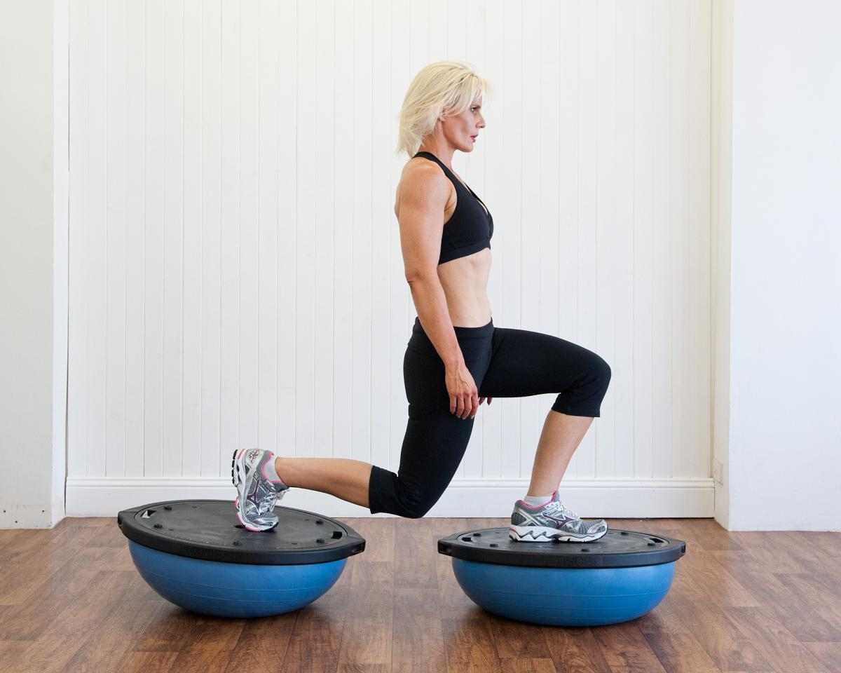 Bosu training exercises for horse riders