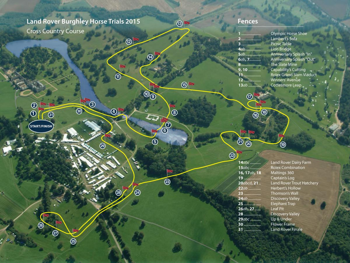 Land Rover Burghley Horse Trials Course Preview An Eventful - Us nationals houghton 2015 course map