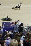 Australian supporters cheer on Sam Griffiths