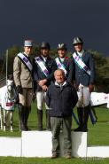 The winning French team in the FEI Nations Cup Eventing at Fontainebleau