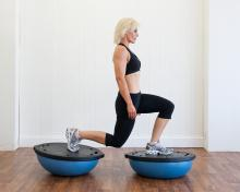 Sally Symonds Bosu training for horse riders